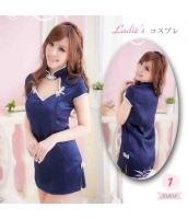 【即納】TK-xx8041☆SALE☆ネイビー・ミニチャイナドレス・花柄地模様|セクシードレス|コスプレ|コスチューム|