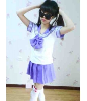 【即納】紫 JK女学生|制服|セーラー服 コスプレ☆tk-xx8111-2