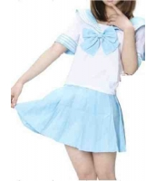 【即納】ライトブルー JK女学生|制服|セーラー服 コスプレ☆tk-xx8111-7