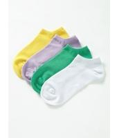 ガーベラインナー レッグウェア 綿  かかとソックス 4足セット mb10145-3