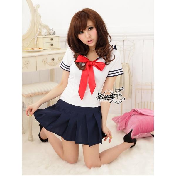 女子高生コスプレ セーラー服 コスチューム ステージ衣装 ハロウィン仮装 bwn0042-1