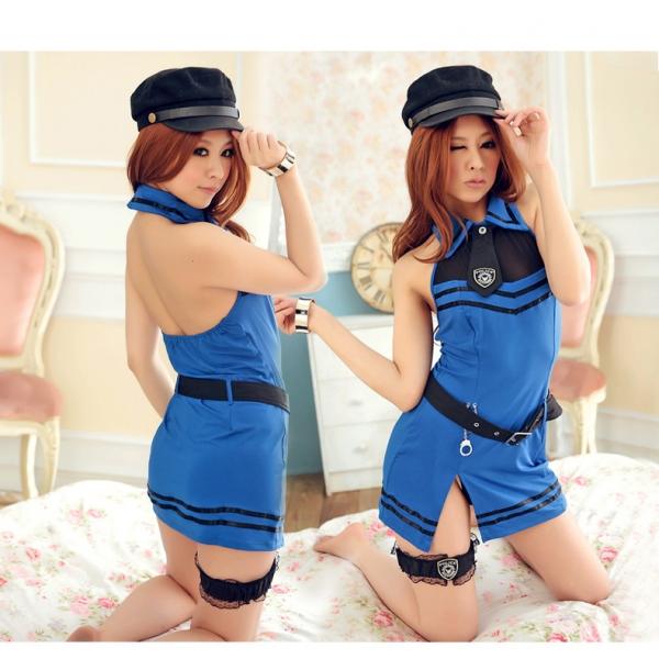ステージ衣装 婦警 女警官 警察 コスプレ レースクイーン コスチューム ハロウィン仮装 bwn0123-1