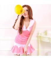 ピンク チアリーダー/チアガール アンサンブル/ステージ衣装 女学生 コスチューム コスプレ ハロウィン仮装 bwn0161-3