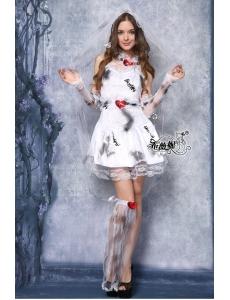 【即納】花嫁ゾンビ コスプレ ステージ衣装 コスチューム ハロウィン仮装 tk-bwn0298-1-f-gz【カラー:画像参照】【サイズ:フリー】