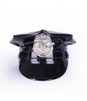 【即納】警官 帽子/ポリスハット コスプレ小道具 ハロウィン仮装 tk-bwn0340-1-m-bk【カラー:画像参照】【サイズ:M(56-58cm)】