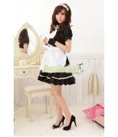 メイド ウェイトレス コスチューム コスプレ ハロウィン 仮装 衣装 6点セット XLサイズ bwn1020-11
