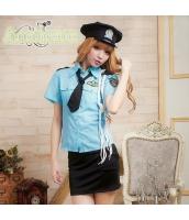 警官 婦警 ポリス 警察 制服 コスチューム コスプレ ハロウィン 仮装 衣装 5点セット bwn1022-1