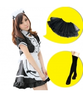 メイド ウェイトレス コスチューム コスプレ ハロウィン 仮装 衣装 6点セット Mサイズ bwn1031-3