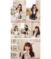 メイド ウェイトレス コスチューム コスプレ ハロウィン 仮装 衣装 6点セット Lサイズ bwn1031-12