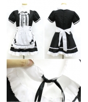 メイド ウェイトレス コスチューム コスプレ ハロウィン 仮装 衣装 6点セット XLサイズ bwn1031-25
