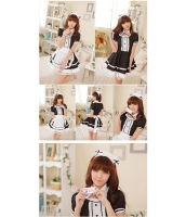 メイド ウェイトレス コスチューム コスプレ ハロウィン 仮装 衣装 6点セット Lサイズ bwn1031-17