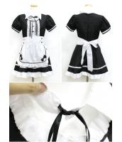 メイド ウェイトレス コスチューム コスプレ ハロウィン 仮装 衣装 6点セット XLサイズ bwn1031-26