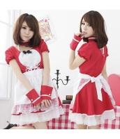 メイド ウェイトレス コスチューム コスプレ ハロウィン 仮装 衣装 4点セット bwn1032-1