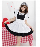 メイド ウェイトレス コスチューム コスプレ ハロウィン 仮装 衣装 3点セット Lサイズ bwn1035-10