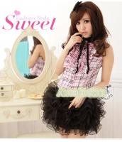 メイド ウェイトレス コスチューム コスプレ ハロウィン 仮装 衣装 2点セット 单要蓬蓬裙-只有M号サイズ bwn1037-2