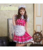 メイド ウェイトレス コスチューム コスプレ ハロウィン 仮装 衣装 4点セット bwn1049-1