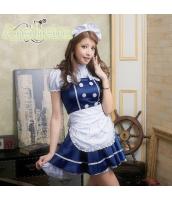 メイド ウェイトレス コスチューム コスプレ ハロウィン 仮装 衣装 4点セット bwn1049-3