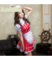 メイド ウェイトレス コスチューム コスプレ ハロウィン 仮装 衣装 4点セット bwn1049-5