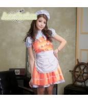 メイド ウェイトレス コスチューム コスプレ ハロウィン 仮装 衣装 4点セット bwn1049-6
