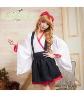 ハロウィン 巫女 コスチューム コスプレ 仮装 衣装 4点セット Sサイズ bwn1053-2