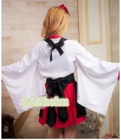 ハロウィン 巫女 コスチューム コスプレ 仮装 衣装 4点セット Lサイズ bwn1053-6