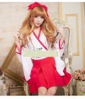 ハロウィン 巫女 コスチューム コスプレ 仮装 衣装 4点セット XLサイズ bwn1053-8