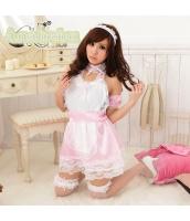 メイド ウェイトレス コスチューム コスプレ ハロウィン 仮装 衣装 7点セット bwn1059-2