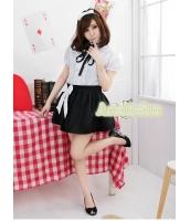 メイド ウェイトレス コスチューム コスプレ ハロウィン 仮装 衣装 4点セット Lサイズ bwn1062-3