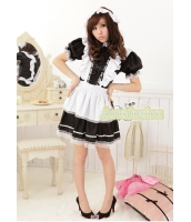 メイド ウェイトレス コスチューム コスプレ ハロウィン 仮装 衣装 2点セット Lサイズ bwn1063-2