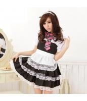 メイド ウェイトレス コスチューム コスプレ ハロウィン 仮装 衣装 4点セット bwn1067-1