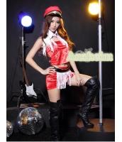 ダンス・ステージ衣装 コスチューム コスプレ ハロウィン 仮装 ポールダンサー衣装 6点セット L码配帽子サイズ bwn1072-5
