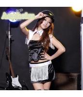ダンス・ステージ衣装 コスチューム コスプレ ハロウィン 仮装 ポールダンサー衣装 6点セット M码不带帽子サイズ bwn1072-2