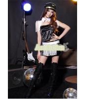 ダンス・ステージ衣装 コスチューム コスプレ ハロウィン 仮装 ポールダンサー衣装 6点セット M码配帽子サイズ bwn1072-4