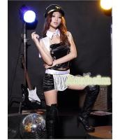 ダンス・ステージ衣装 コスチューム コスプレ ハロウィン 仮装 ポールダンサー衣装 6点セット L码配帽子サイズ bwn1072-6