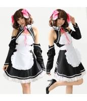 メイド ウェイトレス コスチューム コスプレ ハロウィン 仮装 衣装 5点セット bwn1077-1