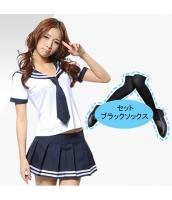 コスチューム コスプレ ハロウィン 仮装 衣装 女子高生制服 セーラー服 4点セット bwn1081-2