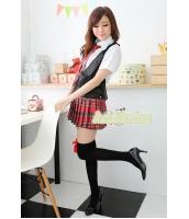 女子高生制服 コスチューム コスプレ ハロウィン 仮装 衣装 4点セット XLサイズ bwn1082-3