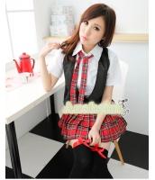 女子高生制服 コスチューム コスプレ ハロウィン 仮装 衣装 4点セット XXLサイズ bwn1082-4