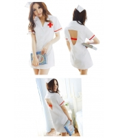 看護婦 ナース 制服 コスチューム コスプレ ハロウィン 仮装 衣装 2点セット Lサイズ bwn1084-4