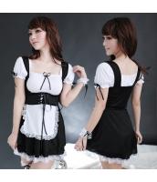 メイド ウェイトレス コスチューム コスプレ ハロウィン 仮装 衣装 4点セット bwn1086-1