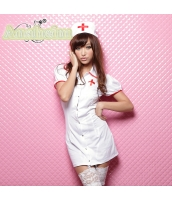 看護婦 ナース 制服 コスチューム コスプレ ハロウィン 仮装 衣装 4点セット bwn1094-1