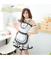 メイド ウェイトレス コスチューム コスプレ ハロウィン 仮装 衣装 5点セット bwn1101-1