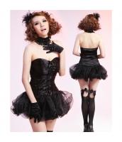 メイド ウェイトレス コスチューム コスプレ ハロウィン 仮装 衣装 5点セット bwn1119-1