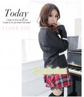 女子高生制服 コスチューム コスプレ ハロウィン 仮装 衣装 5点セット Mサイズ bwn1126-5