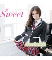女子高生制服 コスチューム コスプレ ハロウィン 仮装 衣装 4点セット Sサイズ bwn1126-2