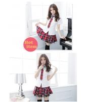 女子高生制服 コスチューム コスプレ ハロウィン 仮装 衣装 4点セット Lサイズ bwn1126-10