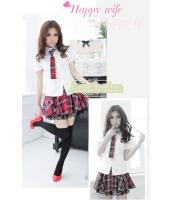 女子高生制服 コスチューム コスプレ ハロウィン 仮装 衣装 4点セット Lサイズ bwn1126-11