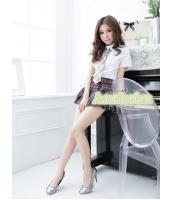 女子高生制服 コスチューム コスプレ ハロウィン 仮装 衣装 4点セット Lサイズ bwn1139-2