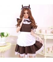 メイド ウェイトレス コスチューム コスプレ ハロウィン 仮装 衣装 3点セット Mサイズ bwn1153-1