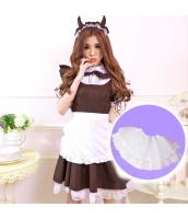 メイド ウェイトレス コスチューム コスプレ ハロウィン 仮装 衣装 4点セット Lサイズ bwn1153-9